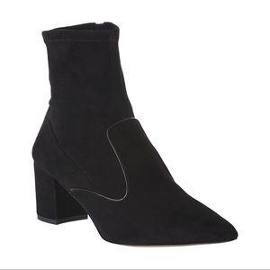 L.K. Bennett Black Suede Harri Ankle Sock Booties